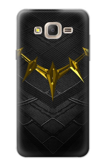 Printed Black Panther Inspired Costume Gold Necklace Samsung Galaxy On7 Case