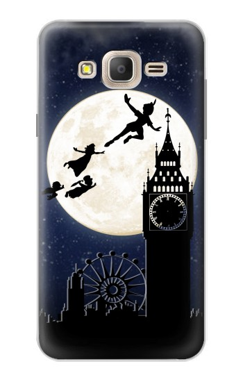 Printed Peter Pan Fly Fullmoon Night Samsung Galaxy On7 Case