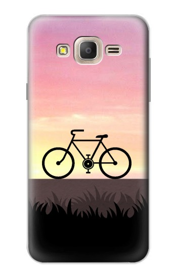 Printed Bicycle Sunset Samsung Galaxy On7 Case