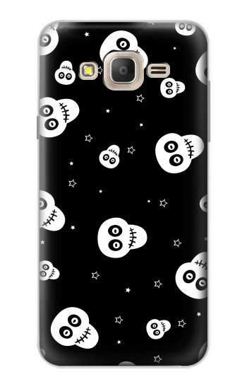 Printed Skull Pattern Samsung Galaxy On7 Case
