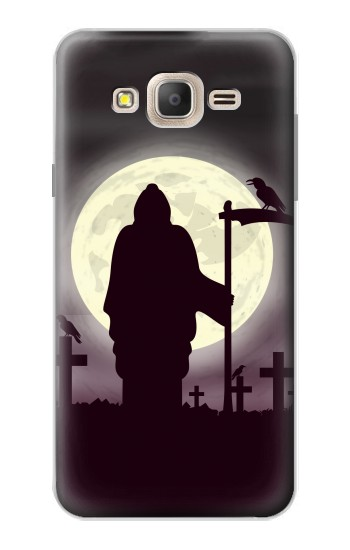 Printed Night Moon Cemetery Samsung Galaxy On7 Case