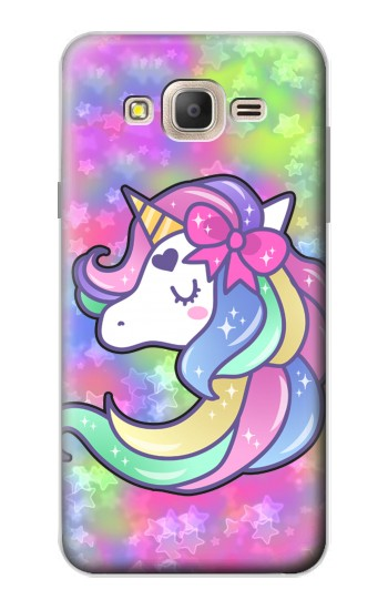 Printed Pastel Unicorn Samsung Galaxy On7 Case