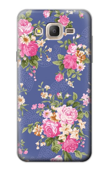 Printed Vintage Flower Pattern Samsung Galaxy On7 Case