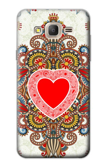 Printed Heart Pattern Line Art Samsung Galaxy On7 Case