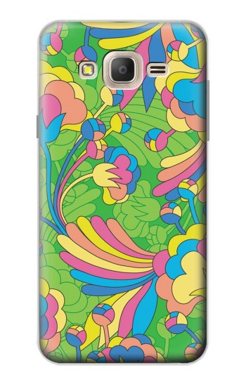 Printed Flower Line Art Pattern Samsung Galaxy On7 Case