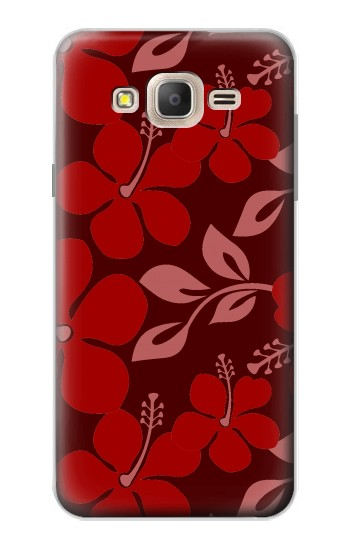 Printed Hawaii Dark Red Pattern Samsung Galaxy On7 Case