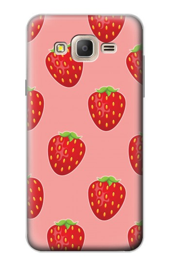 Printed Strawberry Fruit Pattern Samsung Galaxy On7 Case