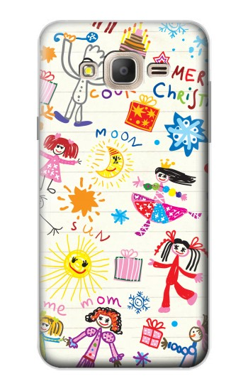 Printed Kids Drawing Samsung Galaxy On7 Case