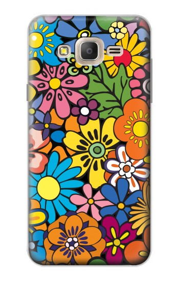 Printed Colorful Flowers Pattern Samsung Galaxy On7 Case