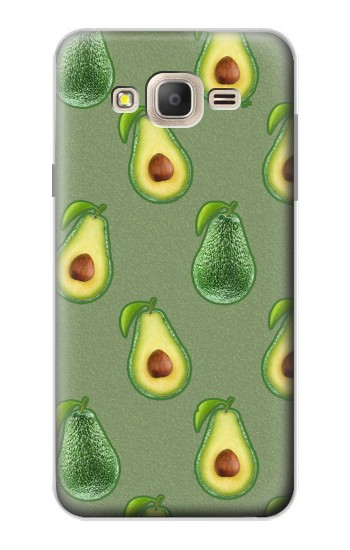 Printed Avocado Fruit Pattern Samsung Galaxy On7 Case