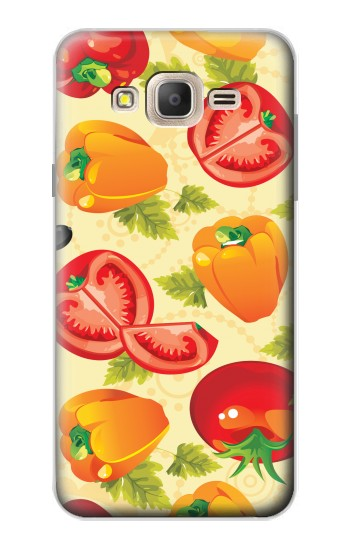 Printed Seamless Food Vegetable Samsung Galaxy On7 Case