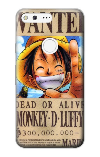 Printed One Piece Monkey D Luffy Wanted Poster Google Pixel Case
