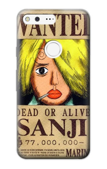Printed One Piece Sanji Wanted Poster Google Pixel Case