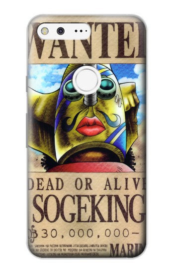 Printed One Piece SOGEKING Wanted Poster Google Pixel Case