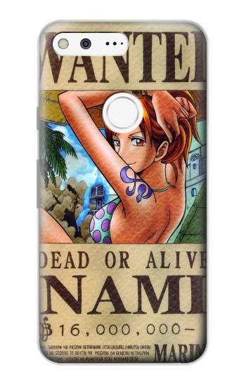 Printed One Piece NAMI Wanted Poster Google Pixel Case
