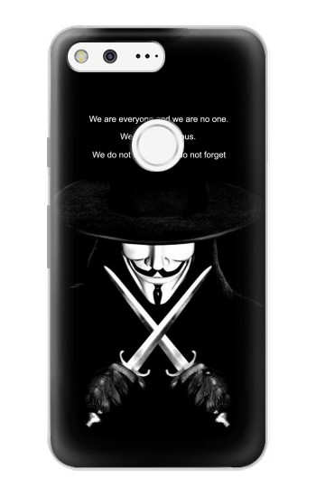 Printed V Mask Guy Fawkes Anonymous Google Pixel Case