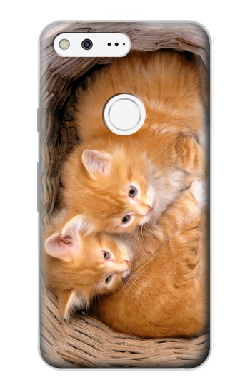 Printed Two Kitty Cat Google Pixel Case
