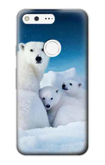 Printed Polar Bear Family Arctic Google Pixel Case