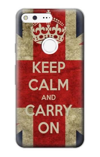 Printed Keep Calm and Carry On Google Pixel Case