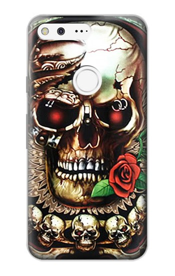 Printed Skull Wing Rose Punk Google Pixel Case