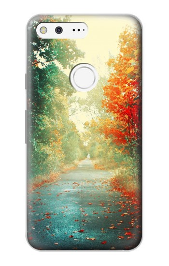 Printed Road Through The Woods Google Pixel Case