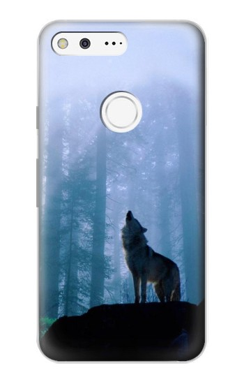 Printed Wolf Howling in Forest Google Pixel Case