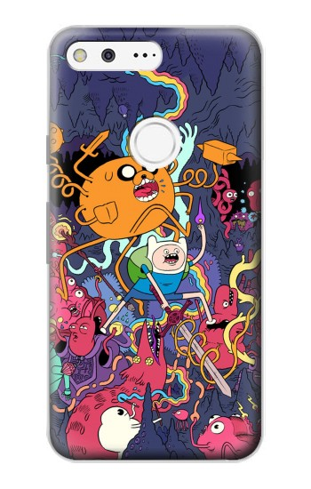 Printed Adventure Time Google Pixel Case