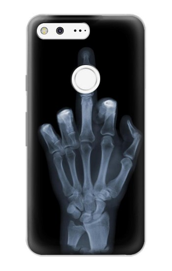 Printed X-ray Hand Middle Finger Google Pixel Case