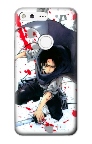 Printed Attack on Titan Rivaille Levi Google Pixel Case