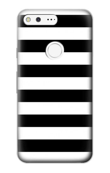 Printed Black and White Striped Google Pixel Case