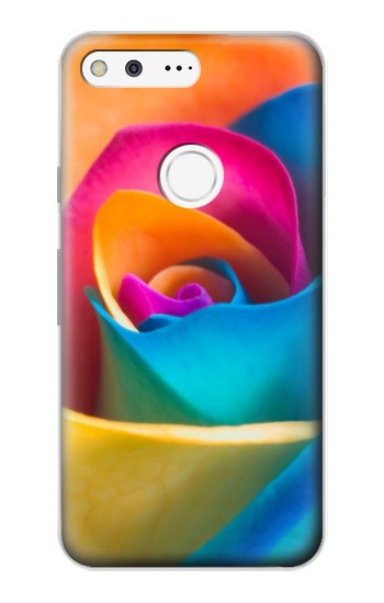 Printed Rainbow Colorful Rose Google Pixel Case