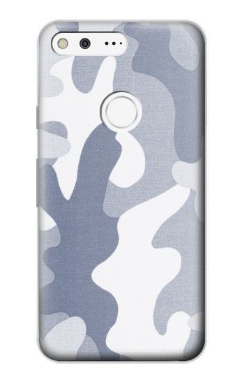 Printed Blue Camo Camouflage Graphic Printed Google Pixel Case