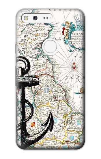 Printed Nautical Chart Google Pixel Case