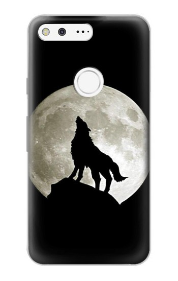 Printed Wolf Howling at The Moon Google Pixel Case