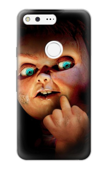 Printed Chucky Middle Finger Google Pixel Case