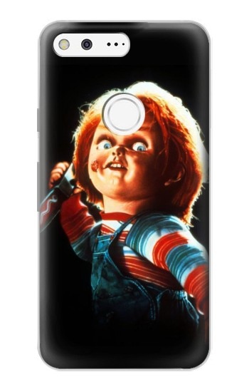 Printed Chucky With Knife Google Pixel Case