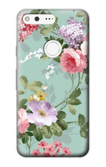 Printed Flower Floral Art Painting Google Pixel Case