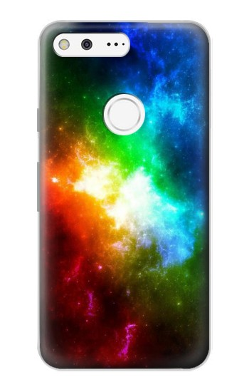 Printed Colorful Rainbow Space Galaxy Google Pixel Case