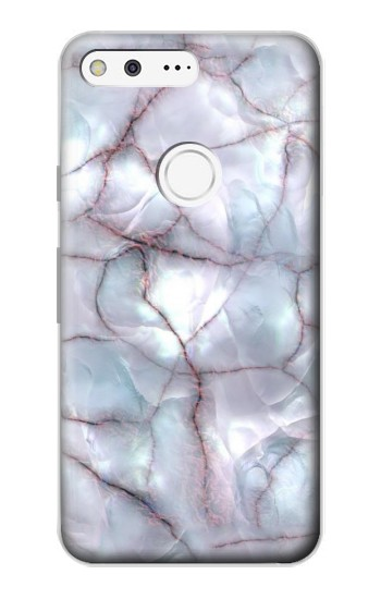 Printed Dark Blue Marble Texture Graphic Print Google Pixel Case
