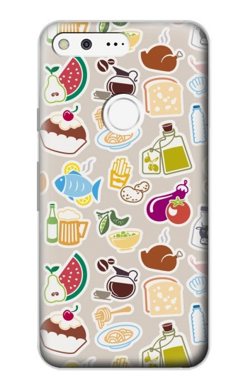 Printed Food and Drink Seamless Google Pixel Case