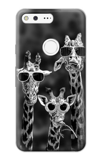 Printed Giraffes With Sunglasses Google Pixel Case