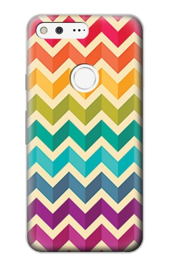 Printed Rainbow Colorful Shavron Zig Zag Pattern Google Pixel Case