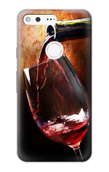 Printed Red Wine Bottle And Glass Google Pixel Case