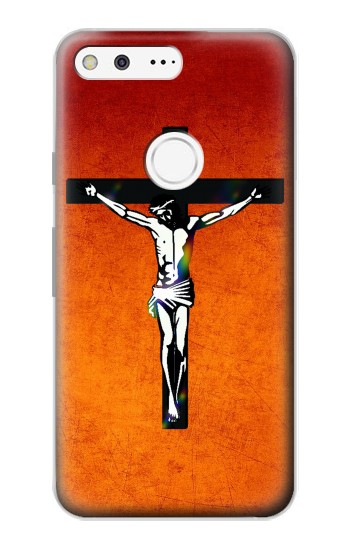 Printed Jesus Christ On The Cross Google Pixel Case