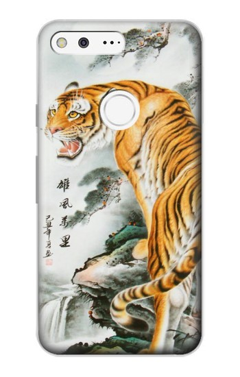 Printed Chinese Tiger Painting Tattoo Google Pixel Case