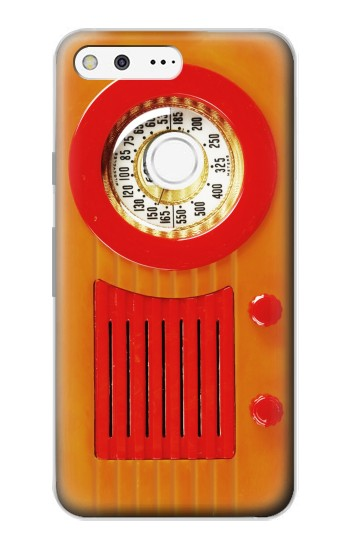 Printed Vintage Bakelite Radio Orange Google Pixel Case