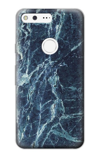 Printed Light Blue Marble Stone Texture Printed Google Pixel Case