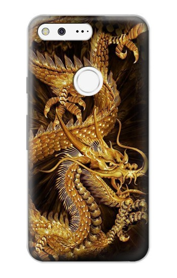 Printed Chinese Gold Dragon Printed Google Pixel Case