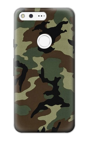 Printed Army Green Woodland Camo Google Pixel Case