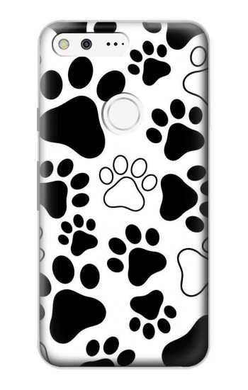 Printed Dog Paw Prints Google Pixel Case